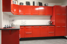 Red Tile Paint For Kitchens Kitchen Cabinets Beautiful Red Kitchen Cabinets Design Red
