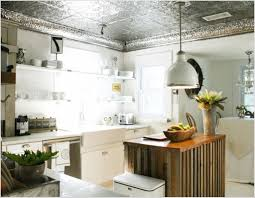 Ceiling Tiles For Kitchen Kitchen With Red Tin Ceiling Tiles Tin Ceiling Tiles Are Making