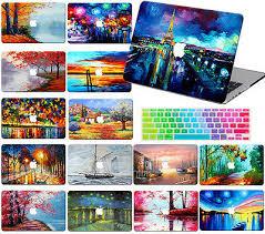 oilpainting hard case cover for macbook air 13 11 pro retina 12 15 laptop bag macbook