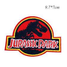 Jurassic Park Movie Logo <b>Embroidered</b> Iron or Sew-on <b>Patch</b> ...