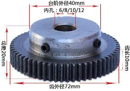 1pc Spur Gear pinion 1M 70T 1 mod gear rack 70teeth bore 8mm ...