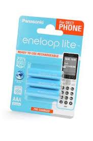 <b>Аккумулятор Panasonic</b> Eneloop Lite <b>AAA</b> 550mAh (BK4LCCE/3DE ...