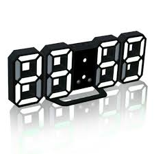 Clocks <b>3D LED Digital</b> Clock Wall Clock <b>Electronic</b> Alarm Display ...
