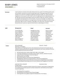 retail manager cv template  resume  examples  job descriptionretail manager cv template