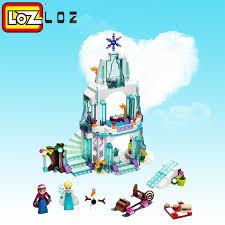 LOZ <b>316pcs</b> Color box <b>Dream Princess Elsa</b> Ice Castle <b>Princess</b> ...