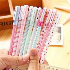 <b>10pcs</b>/<b>lot</b> Office <b>School</b> Accessories 0.38mm Pen Nice Gel Pens ...
