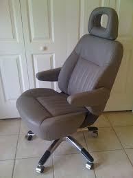 car seat transformed into executive office chair by the ultimate upcyclers car seat office chairs