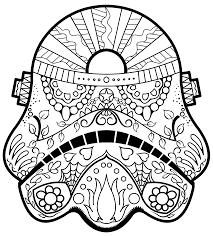 Small Picture Dark Vader Sugar Skull Coloring Page AZ Coloring Pages BYOS