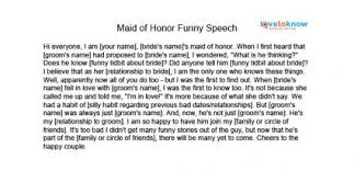 Funny Speeches