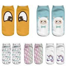 <b>2017</b> Eye Emoji 3D Socks <b>Women</b> Harajuku <b>Cartoon Cute</b> Animal ...
