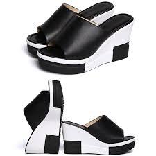<b>VTOTA Sandals Women wedges</b> Shoes High Heel Slippers Summer ...