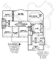 Park View House Plan   Colonial House Plans    park view house plan   nd floor plan