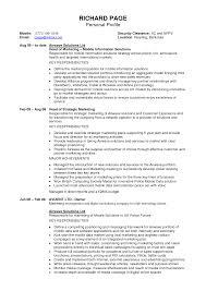 profile resume sample imeth co career profile resume examples