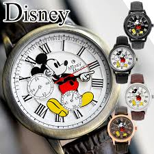 Super sale Disney watch <b>genuine leather</b> Swarovski <b>vintage unisex</b> ...