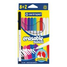 <b>Фломастеры стираемые Centropen</b> Erasable, 8 цветов+2 ...