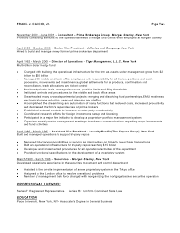 hedge fund resume service fund administrator resume