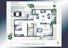 X House Plans   X West Facing House Plans X West Facing House Plans   Ground Floor