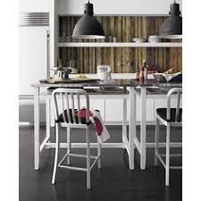 belmont white work table delta aluminum stools emmett pendant lamp i crate and barrel aluminum crate barrel