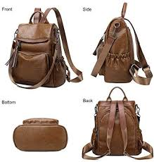 Women <b>Backpack Purses</b> Fashion PU Leather <b>Antitheft</b> Casual