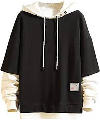 XCeihe Mens Fashion Splice <b>Hooded Sweatshirt Autumn Winter</b> ...