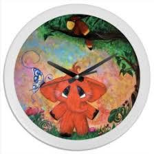 """Часы для офиса c авторскими принтами """"Животные ..."""