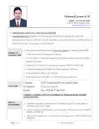 cv sample electrical engineer   letter of intent to contract with    cv sample electrical engineer electrical engineer sample resume cvtips docstoc not found