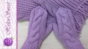 Вязание <b>детских варежек</b>. Вязание спицами. Как связать <b>варежки</b> ...