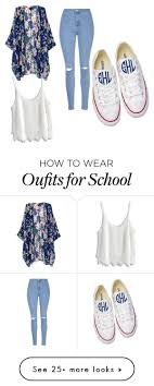 best ideas about high school fashion casual high school by christynstuff on polyvore featuring glamorous chicwish and converse