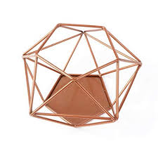 Aytai <b>Geometric</b> Candle Holder Upgrade Copper <b>Hollow</b> Votive Tea ...