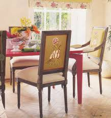 Fabric Chairs For Dining Room Contemporary Red Fabric Dining Chairs Dining Wall Dining Room