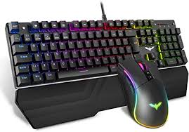 HAVIT Wired RGB Mechanical <b>Gaming Keyboard and</b> Mouse ...
