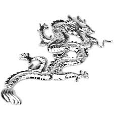 Stylish 3D Dragon Style Alloy Car Badge with 3M Adhesive Tape ...
