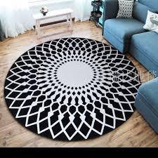 Modern <b>nordic style</b> carpet round living room | Shopee Malaysia