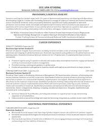 logistician resume resume sample database resume