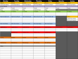 job seeker s life weekly schedule