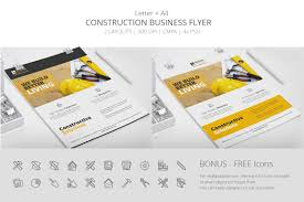construction business flyer template 2bundles com construction business flyer template