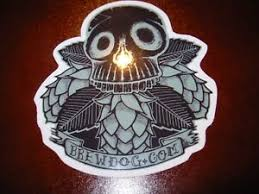 BREWDOG BREW DOG <b>skull</b> hops <b>Hardcore Punk</b> STICKER ...