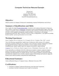computer technician resume getessay biz computer technician example computer technician in computer technician computer repair technician examples computers technology