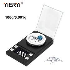 yieryi 100g/<b>50g</b>/<b>20g</b>/<b>10g</b> Electronic Scales 0.001 LCD Digital Scale ...