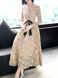 <b>Fashion V</b>-<b>Neck</b> Lace Pire Color Maxi <b>Dress</b> in 2019   Best prom ...