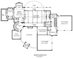 Wide Tuscan House Plans With Luxury Bedroom Layout   HomesCorner Com Square Feet Tuscan House Plans Modeling