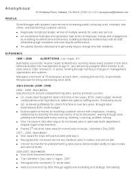 Cover Letter  Resume Example Retail  resume example for retail