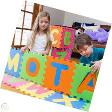 Alphabet ABC Mat EVA Foam MOTA Anti Slip Foam <b>Jigsaw Puzzle</b> ...