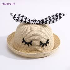 <b>MAERSHEI</b> Children's summer straw hat boy rabbit ear basin hat ...
