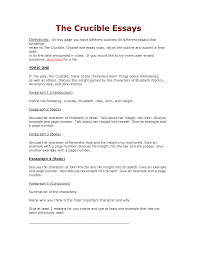 crucible theme essay template crucible theme essay