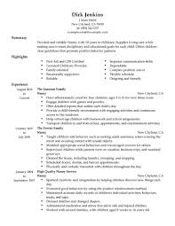 resume nanny experience cipanewsletter nanny experience on resume template
