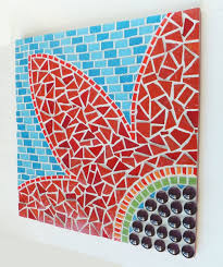 mosaic wall decor: mosaic wall art diy made of broken tiles
