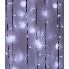 <b>Light Светодиодный занавес белый</b> 2x3 чёрный PVC провод ...
