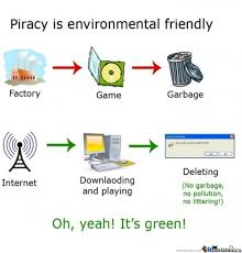 Piracy, It's Eco Friendly! by alskuld - Meme Center via Relatably.com