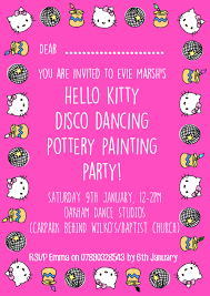 hello kitty invitation emma marsh design hello kitty invitation